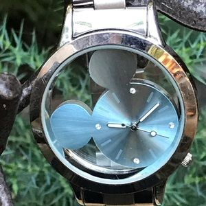 Baby Blue Mickey Face Watch